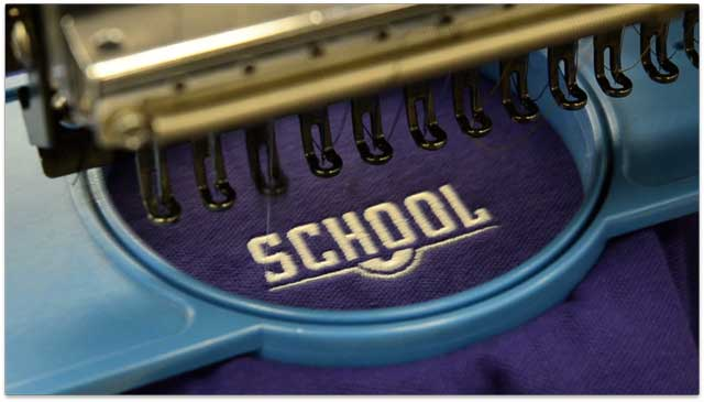 School uniforms In stock... behind the scenes with Parker