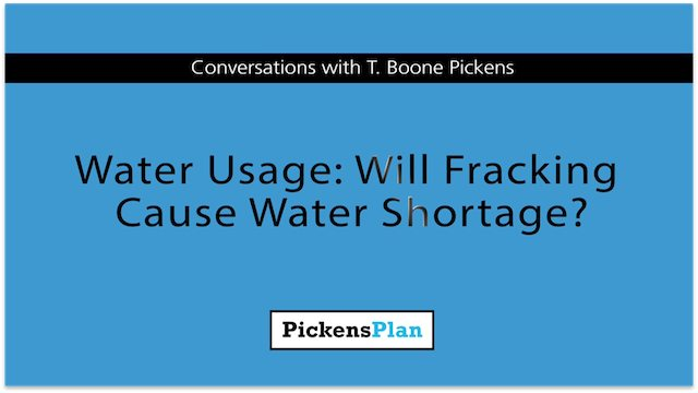 Water Usage: Will Fracking Cause Water Shortage?