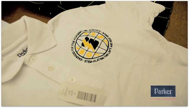 School branding with Parker School Uniforms