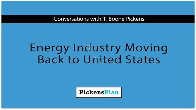 Energy industry moving back to United States